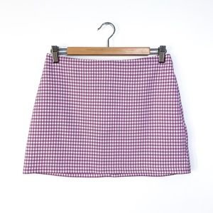 Urban Outfitters Checkered Purple Mini Skirt